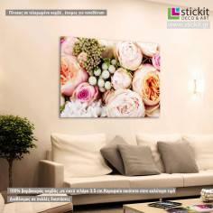 Beautiful bouquet of flowers , πίνακας σε καμβά