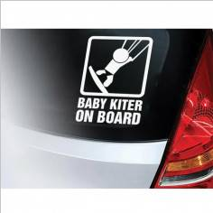 Baby kiter on Board , αυτοκόλλητο αυτοκινήτου