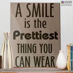 A smile, πινακίδα ξύλινη χαραγμένη με laser