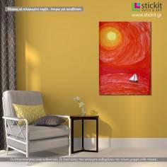 Sailing to the Sun, πίνακας σε καμβά