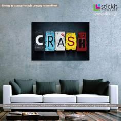 Crash, πίνακας σε καμβά