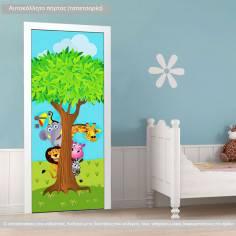 Κρυφτούλι με το δέντρο, αυτοκόλλητο πόρτας παιδικό