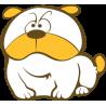 Αυτοκόλλητα τοίχου παιδικά, Αστείος Σκύλος