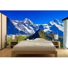 Χιονισμένο βουνό, ταπετσαρία τοίχου φωτογραφική