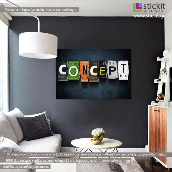 Concept, πίνακας σε καμβά