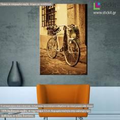 Vintage bicycle, πίνακας σε καμβά