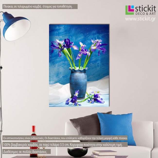 Καλοκαιρινά λουλούδια ΙΙΙ, πίνακας σε καμβά