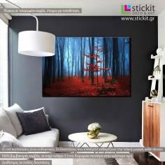 Autumnal foggy forest I, πίνακας σε καμβά
