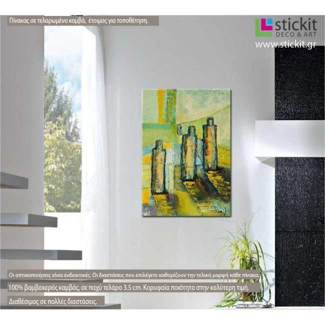 Tableau abstrait, πίνακας σε καμβά