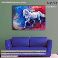 Blue horse, πίνακας σε καμβά
