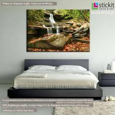 Πίνακας σε καμβά, Καταρράκτης, Autumn waterfall