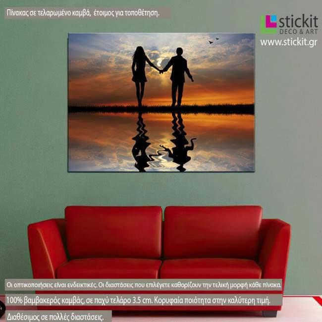 Sunset for two , Πίνακας σε καμβά