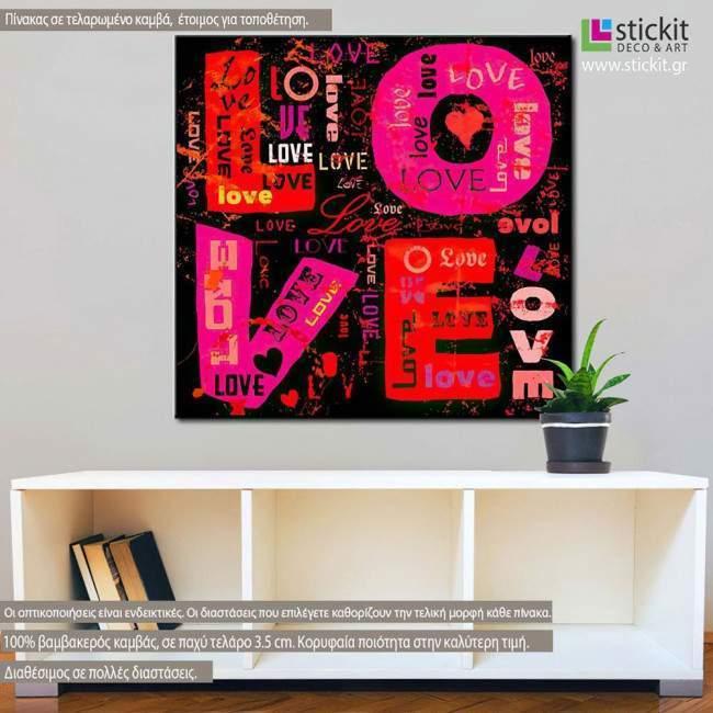 Love vector art, πίνακας σε καμβά