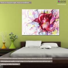 Rose, fashion illustration, πίνακας σε καμβά