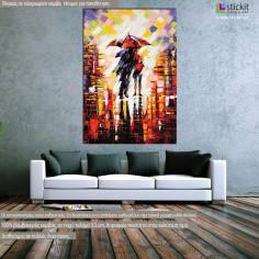 Πίνακας ζωγραφικής, Under the rain, αντίγραφο σε καμβά