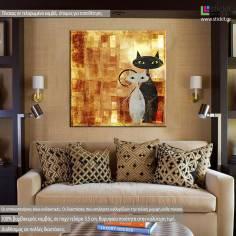 The cats, πίνακας σε καμβά