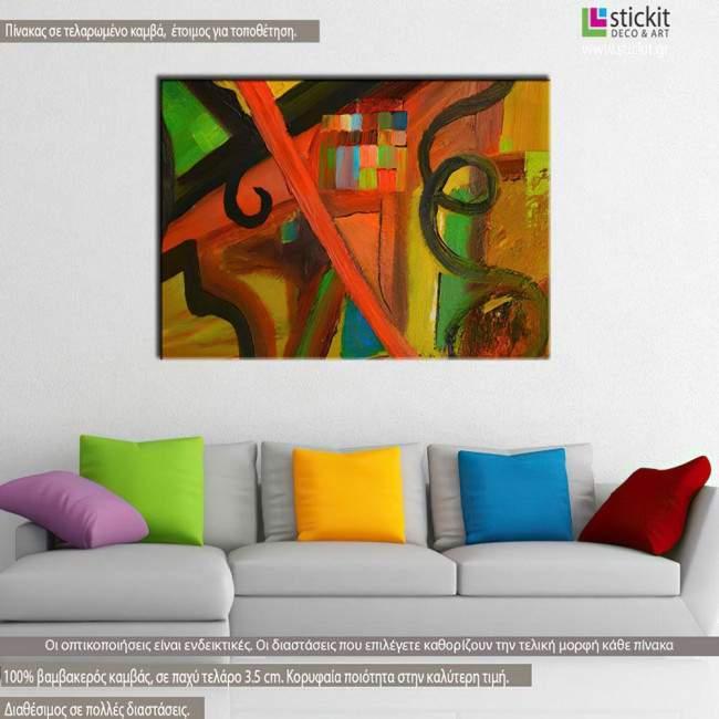 Abstract painting IV, πίνακας σε καμβά