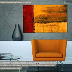Πίνακας σε καμβά, Summer sunset, abstract