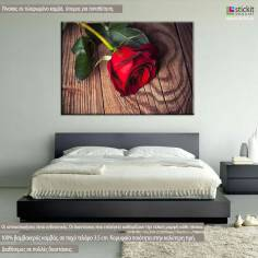 Red Rose, πίνακας σε καμβά με λουλούδι