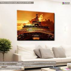 Eifel tower sunset, πίνακας σε καμβά