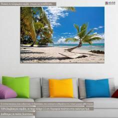 Πίνακας σε καμβά, παραλία Καραϊβικής Caribbean paradise