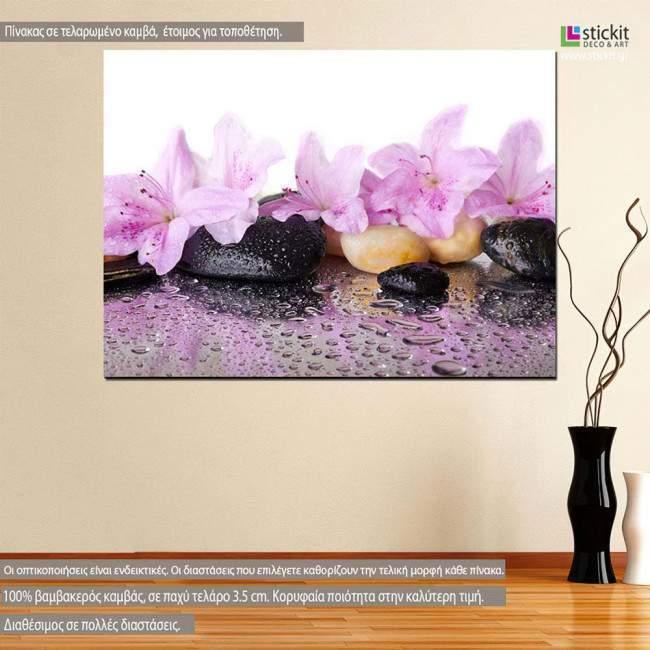 Πίνακας σε καμβά, λουλούδια, Pink flowers