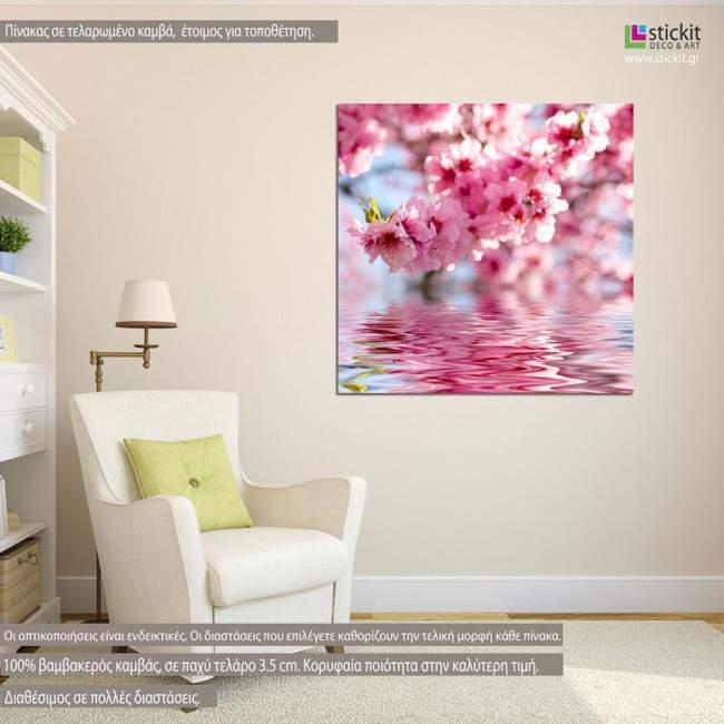 Spring apple flowers , πίνακας σε καμβά