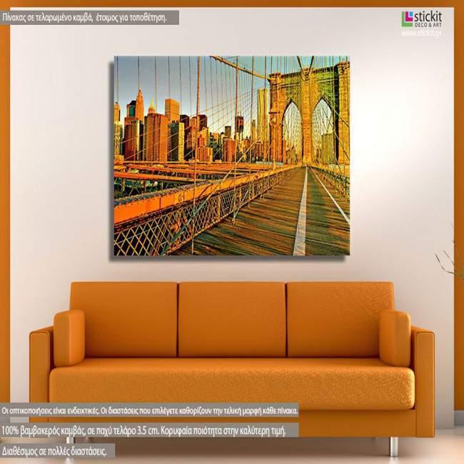 Πίνακας σε καμβά, Νέα Υόρκη γέφυρα, Brooklyn bridge