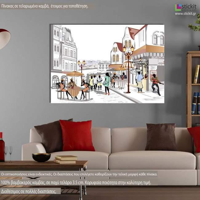 Street views in the old city I, πίνακας σε καμβά
