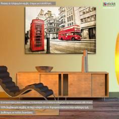 London instances vintage, πίνακας σε καμβά