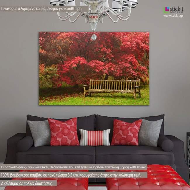 Forest bench, πίνακας σε καμβά