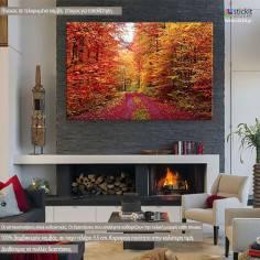 Πανδαισία φθινοπωρινών χρωμάτων , πίνακας σε καμβά