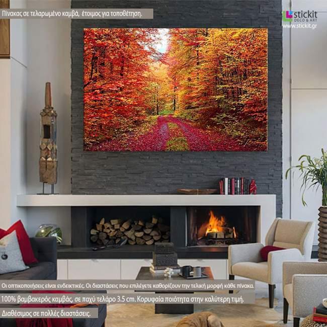 Πίνακας σε καμβά, Πανδαισία φθινοπωρινών χρωμάτων