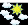 Ήλιος Με Σύννεφα| Αυτοκόλλητο τοίχου