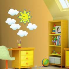 Αυτοκόλλητο τοίχου, Ήλιος και Σύννεφα