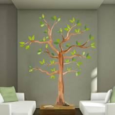 Αυτοκόλλητο τοίχου, δέντρο ζωγραφισμένο, Watercolors tree