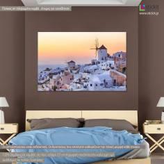 Santorini view II, πίνακας σε καμβά