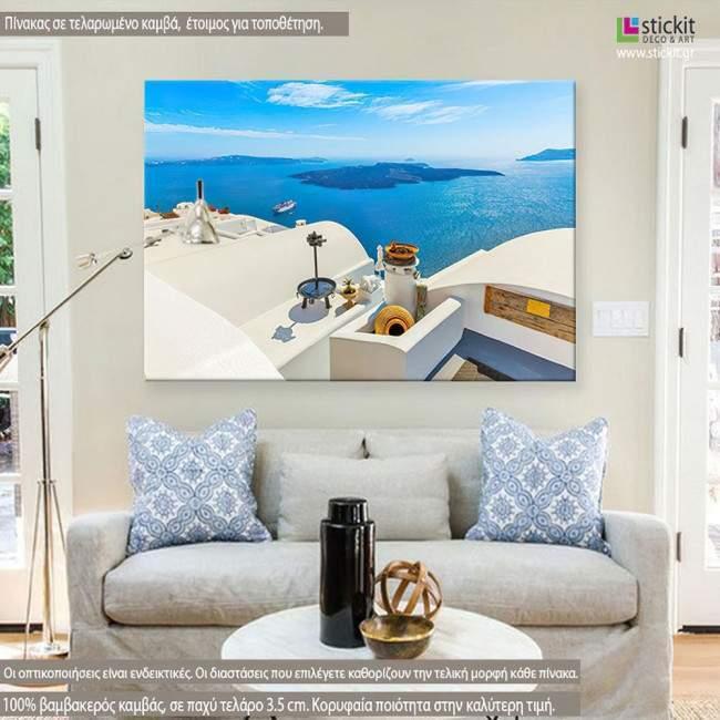Santorini view III, πίνακας σε καμβά