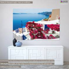 Santorini view V, πίνακας σε καμβά