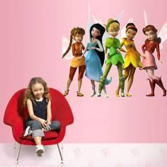 Tinkerbell and friends, αυτοκόλλητα τοίχου