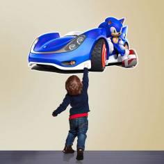 Sonic the Hedgehog, αυτοκόλλητα τοίχου