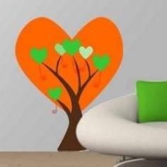 Αυτοκόλλητα τοίχου, Δέντρο απο μεγάλες καρδιές