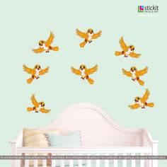 Χαριτωμένα πουλάκια, αυτοκόλλητο τοίχου