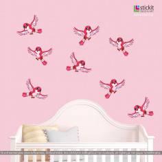 Αυτοκόλλητα τοίχου παιδικά, Πουλάκια χαριτωμένα σε πολλά χρώματα