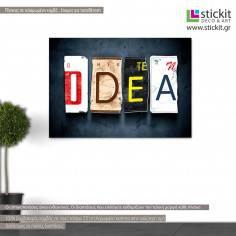 Idea word plate, πίνακας σε καμβά