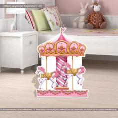 Carousel ,ξύλινη φιγούρα διακοσμητική