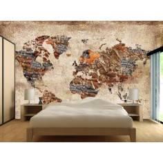 Textured world map , φωτογραφική ταπετσαρία αυτοκόλλητη
