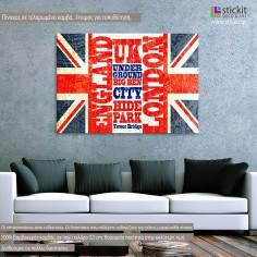 Union Jack artwork, πίνακας σε καμβά