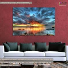 Lagoon Twilight, πίνακας σε καμβά
