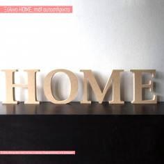 HOME , αυτοστήρικτα ξύλινα διακοσμητικά γράμματα